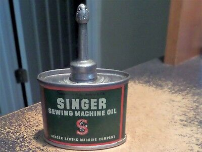 Vintage Small Singer Sewing Machine Oil Can