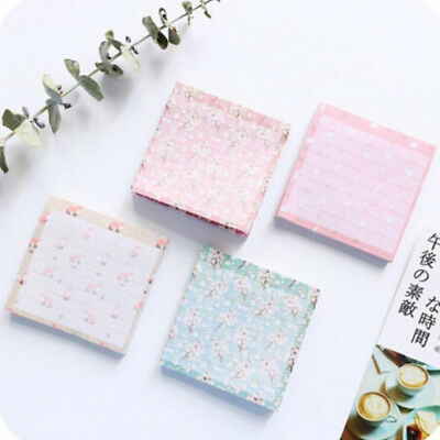 Mini Floral Fox Sticky Notes Memo Mat School Planner Message Decor Stationary