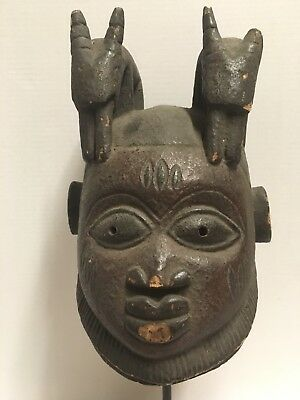 African Yoruba Style Gelede Mask, Published, Exhibited