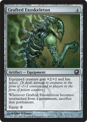 1x GRAFTED EXOSKELETON - Rare - Scars - MTG - NM Magic the Gathering