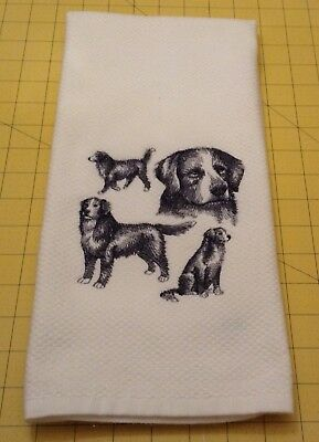 Bernese Mountain Collage Sketch Embroidered Williams Sonoma Kitchen Hand Towel