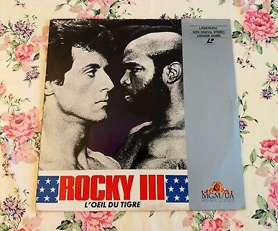 Rocky III (3) Laserdisc LD PAL Sylvester Stallone, Mister T, Carl Weathers