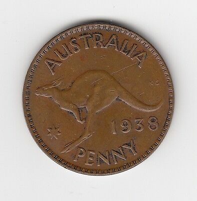 1938 Australia Kgvi Penny - Very Nice Collectable Bronze Coin