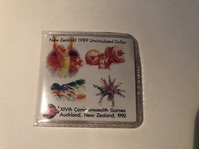New Zealand 1989 Commonwealth Games 1990 Royal Australian Mint $1 Coin Swimmer