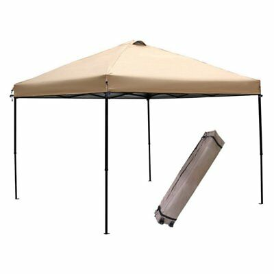 Abba Patio 10 x 10 ft. Portable Pop Up Canopy with Roller Bag, Tan