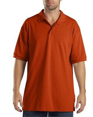 New Dickies Men's Short Sleeve Performance Pique Polo Shirt -Orange S/M/L/XL/2XL