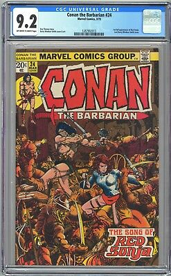 CONAN THE BARBARIAN #24 - CGC 9.2 OW/WP - NM- 1st Full RED SONJA