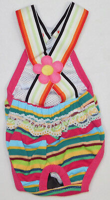 Teacup Reusable Diaper Small Dog Clothes Multi Color Striped Size XSmall