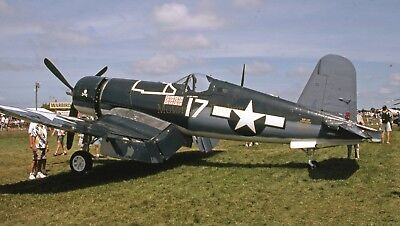 "1999 35mm slide. Chance-Vought F4U-1A Corsair ""Lt.Cdr. Roger Hedrick"""