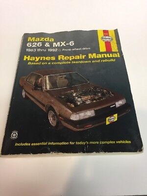 Haynes Mazda 626 and MX-6 Front Wheel Drive, 1983-1992 #61041