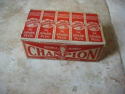 10 Vintage Champion X Spark Plugs New In Box Ford A-25