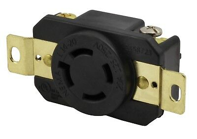 20 Amp 250 Volt NEMA L14-20R Generator Outlet Replacement by AC WORKS®