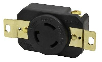 20 Amp 250 Volt NEMA L6-20R Replacement Industrial Locking Outlet by AC WORKS®