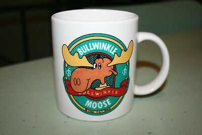 Rocky & Bullwinkle MOOSE 1986 N J Croce Co Ceramic Mug Made in USA