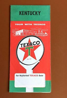 Vintage Texaco Map of Kentucky 1959