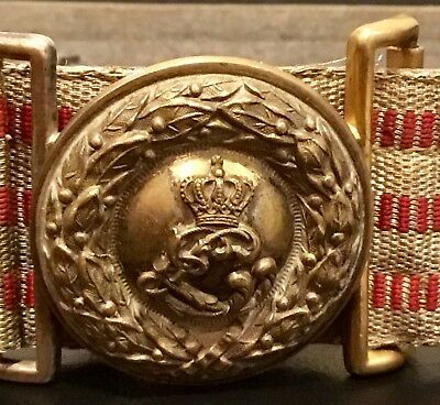 Imperial German, WW 1, VERY RARE Hessian Officer's Brocade Dress Belt & Buckle
