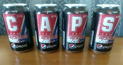 WASHINGTON CAPITALS  Limited Edition Pepsi Zero cans Set of 4 + 1