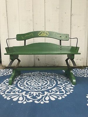 Nice Antique John Deere Buck Seat Buggy Bench With Complete Advertising Logo