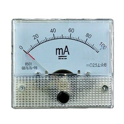 DC 0-100mA Analog Panel Meter Ampere Current Ammeter AMP 100mA 64*56*60mm I9H7
