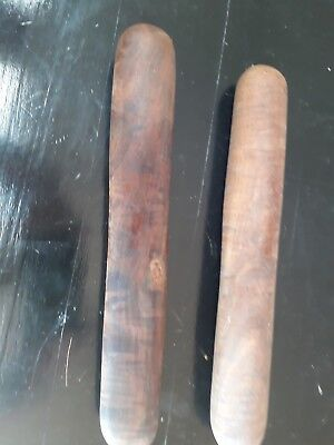 Pair of natural wood Aboriginal clapping sticks