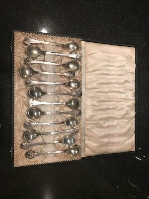Antique Silver Butterfly Coffee Spoons