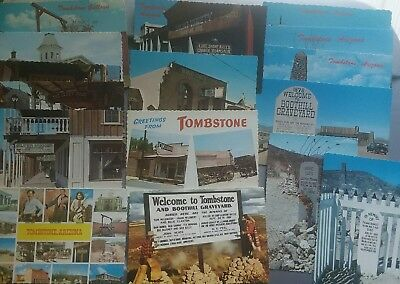 Vintage Postcards Lot ~ Tombstone OK Corral Cemetary Old West