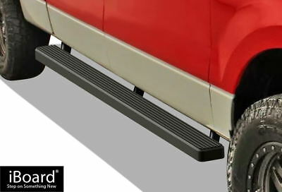 """iBoard Running Boards 4"""" Matte Black Fit 04-08 Ford F150 SuperCrew Cab"""
