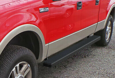 """iBoard Running Boards 5"""" Matte Black Fit 04-08 Ford F150 SuperCrew Cab"""