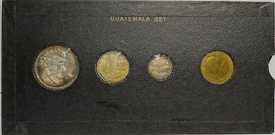 4 Proof Coin 1957 Guatemala Set - 1, 5, 10 & 25 Centavos In Case