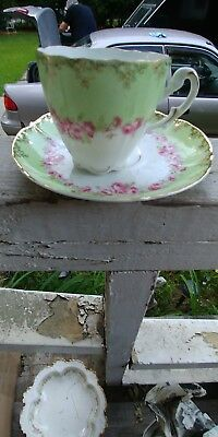 Kpm Pastel Floral Chocolate Cup With Matching Saucer