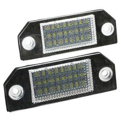 2 White 24 LED Number License Plate Lights Lamps Bulbs for Ford Focus 2 C-M J5H4