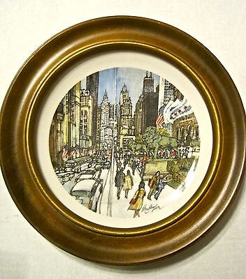 CHICAGO ART INSTITUTE Vintage McMahon PLATE / BARDS HARDWOOD PLATE FRAME