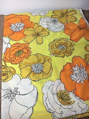 Vintage Bibb Floral Flat Sheet Retro Flower Power