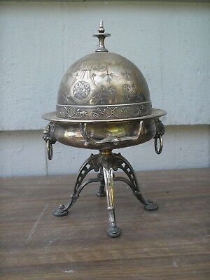 Antique Silver Plated Butter Dish