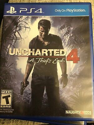 Uncharted 4 A Thief's End GAME SONY PLAYSTATION 4 PS PS4 THIEFS THIEVES