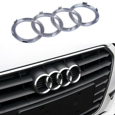 For Audi Rings Silver Grill Front Hood A3 A4 S4 A5 S5 A6 S6 SQ7 TT Badge Emblem