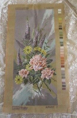 Tapestry Ropi-Atefier -Flowers - Made In West Germany - Apart 3 1 528 01