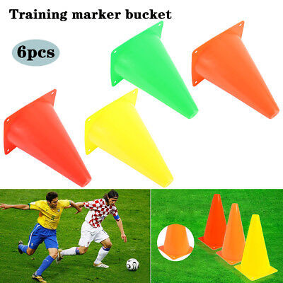 NEW Pack of 6 20CM Sport Training Cones Fitness Exercise Equipment Soccer Marker