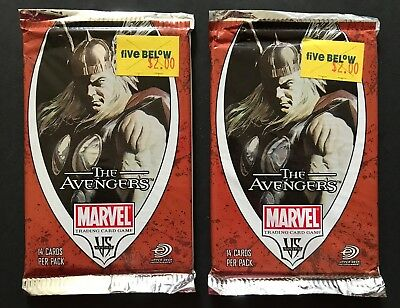 The AVENGERS VS System Upper Deck Marvel Movie Trading Cards 2 Pack Lot
