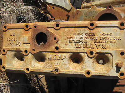 WoW! L@@K! Rare! WWII Willys US Army Jeep 4 Cyl Cylinder Head VG++