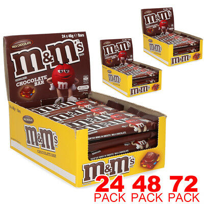 24x 48x 72x M&M's M&Ms Milk Chocolate Bar 46g AU STOCK