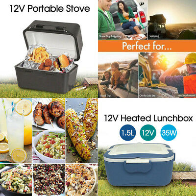 Portable 12V Heated Stove Oven Food Warmer Lunchbox Truck Caravan Camping AU