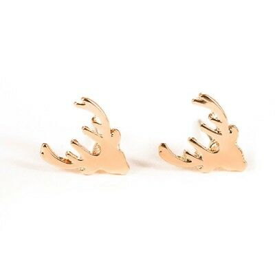 2Pair Fashion Deer Stud Earrings boucle d'oreille For Women Party Christmas Gift