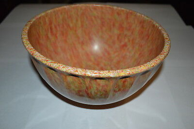 Boonton Ware Confetti Spatter Mixing Bowl Orange Red RARE!! Melmac Speckle