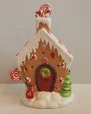 Christmas Gingerbread House Tea Light Candle Holder