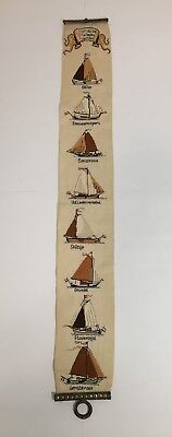 Dutch Wooden Sailing Ships Cross Stitch -Cast Iron - Netherlands - One of a Kind