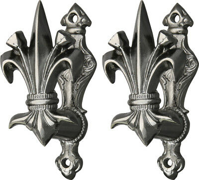 "203308 Fleur De Lis Gun & Sword Holder 3.375"" High (Set Of 2)"