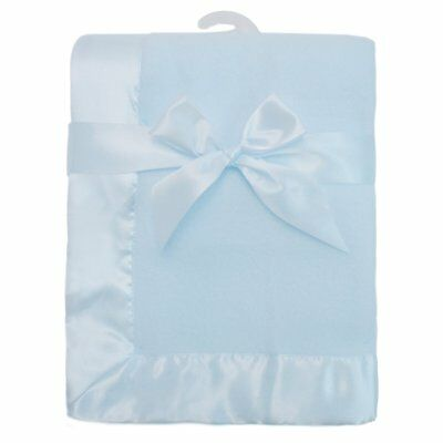 Fleece Blanket with 2 in. Satin Trim by American Baby Company