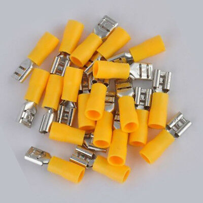 20PCS 10-12 AWG Insulated Female Spade Wire Crimp Terminal Connectors Yellow