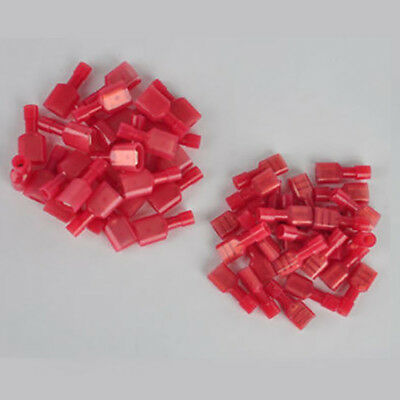 50pcs Red 18-22 AWG Male & Female Nylon Quick Disconnect Connector Terminal New
